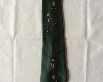 1940s Green Vintage Tie