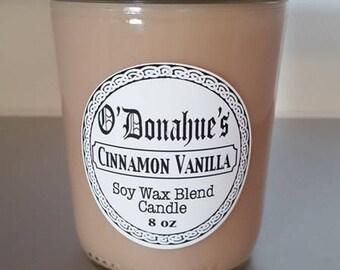 Cinnamon Vanilla 8oz Soy Blend Candle
