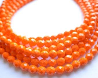 Rebecca - Orange Glass Bridesmaid Statement Necklace