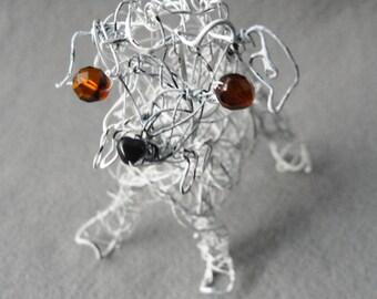 Dog Made to Order, Pet Portrait , Custom Dog Memorial ,Keepsake Gift ,Wire Dog, Wire Sculpture, Pet Bereavement Gift, Custom Dog Art