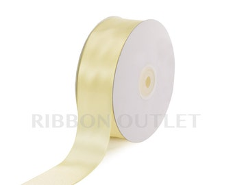 "1 1/2"" Baby Maize Satin Ribbon 50 Yards Per Roll"