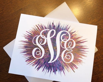 Monogram Folded Thank You Cards