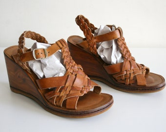 Brazillian Wood Leather Sandals