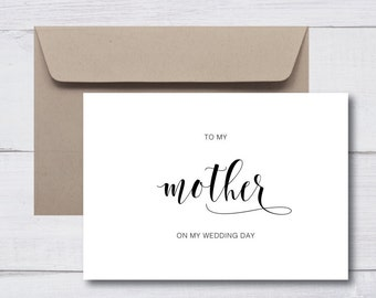 MOTHER FATHER Wedding Cards |  Thank You, Personalised, Custom Card, Mum, Dad, Parents, In Laws, Wedding Day, Minimalist, Monochrome