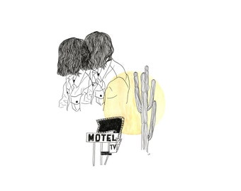 Seeing Double in the Desert Illustration