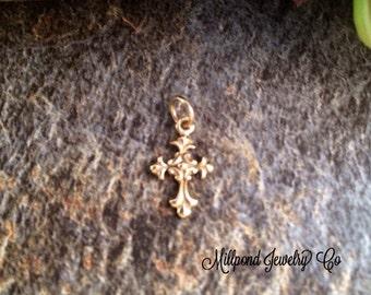 Cross Charm, Bronze Cross Charm, Cross Charm, Religious Charm, Religious Pendant, Christian Charm, Christian Pendant