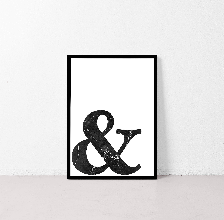 And Poster & Wall Art Ampersand Scandinavian Poster Print
