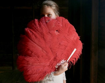 Antique Ostrich Feather Fan