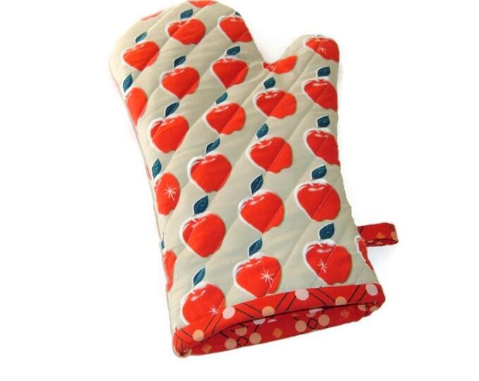 Oven Mitt - Apples - Gift for Foodie - Teacher Gift -Gift Under 20