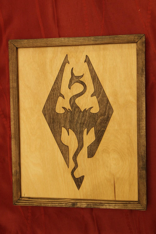 Skyrim Wooden Inlay Wall Art