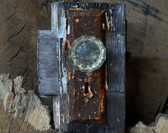 Nature Photography Matted 8x10 Rustic Doorknob