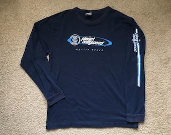 Men's Vintage 1998 Planet Hollywood Myrtle Beach Long Sleeve T Shirt Size Large