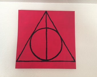 Deathly Hallows Symbol 10x10 painting