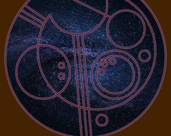 "Circular Gallifreyan Print - 8x10 - Tenth Doctor - ""Allons-y"""