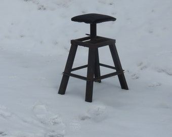 Incredible Rusty Handcrafted Homemade Welded Industrial Seat Farm Fresh Barn Tresaures