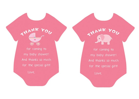 High Quality Printable Baby Shower Thank You Card Baby Girl Baby Shower