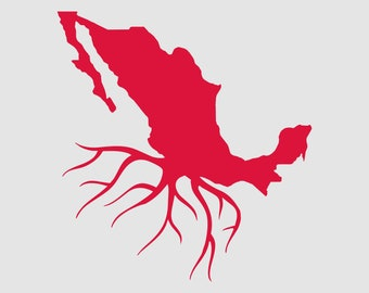 Mexico Roots Map Vinyl Die Cut Sticker Decal