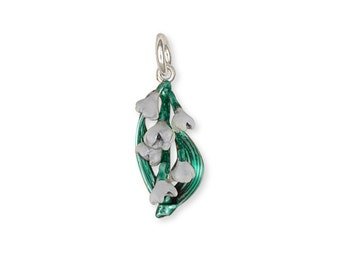 Sterling Silver Lily Of The Valley Charm Jewelry LLV-C