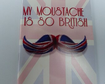flag book my mustache is so british English journal with 48 pages A5 format blank pages