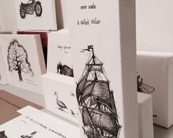 Ship-A Smooth Sea fine art paper print