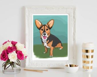 8X10 Pet Commission Art, Pet Portrait, Custom Pet Drawing, Personalized Pet Portrait from Photo, Original Pet, Pet Lover Gift, Pet Memorial