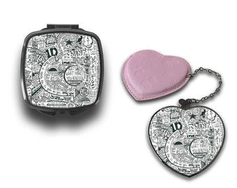 Paper Art One Direction Harry Styles Lyrics Compact Makeup Handbag Mirror CM115