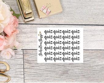 Quiz Functional Planner Stickers - For Erin Condren Life Planner or Happy Planner