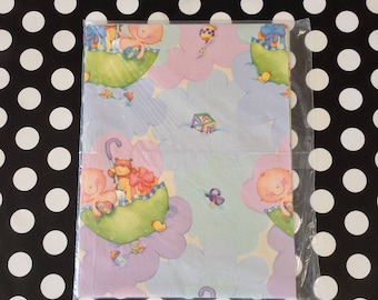 Gift From Above~Baby Shower Gift Wrap~Vintage Baby Wrapping Paper~NOS