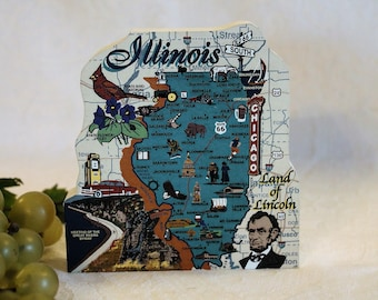 Cat's Meow Village - State of Illinois Map, Land of Lincoln