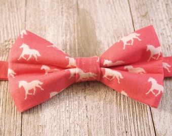Pink on Pink Horses Derby Bow Tie, Pre-tied Bow Tie, Derby Horses, Derby Style, Bowties, Rodeo, Mens Bow Tie, Horse Racing, Pink Horses