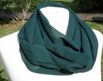 Snood loop scarf woman green neck scarf