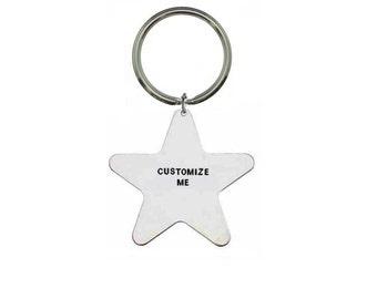Custom Keyring- Personalised Keyring- Hand Stamped Keyring- Custom Keychain- Personalized Keychain- Customisable Keyring
