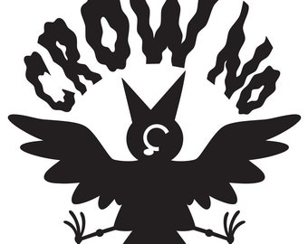 Crow No! Button