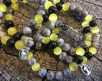 Feline Friend Gemstone bracelet * Cats Eye Bracelet