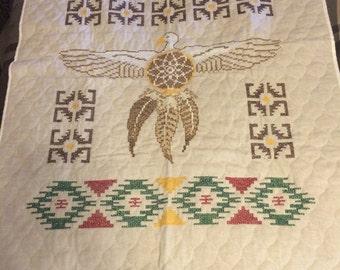 This is a Dream Catcher Lap quilt
