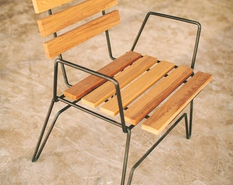 701 cafe chair, stacking chair, modern