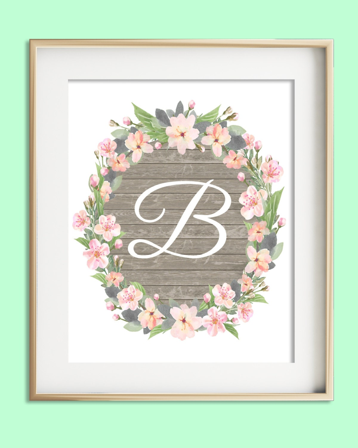 Letter O Wall Art Letter C Printable Instant Download Baby Girl Nursery Wall