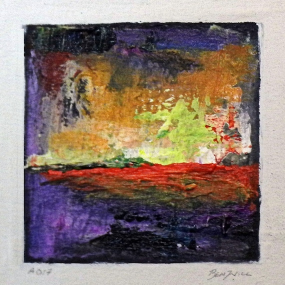 Daily Painting  A017 Small Abstract Study Painting by BenWill