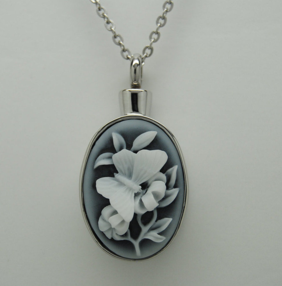 zoom cameo look gibx pendant listing fullxfull ashes butterfly necklace urn black cremation il