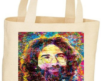 Custom Grateful Dead Jerry Garcia Tote Bag market bag