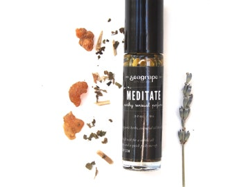 Meditate- An earthy all natural roll-on essential oil perfume