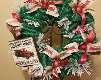 Yuletide Farms Truck Wreath