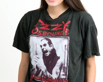 Ozzy Osbourne Black Sabbath vintage band tee rock t-shirt rare concert Farewell Performance 1992 L