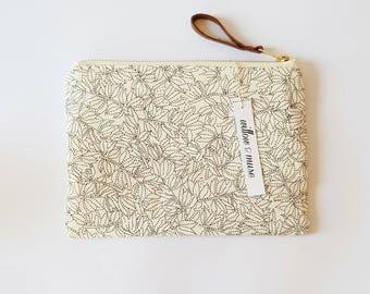 clutch bag small purse make up bag cosmetic bag market bag leather cotton handbag