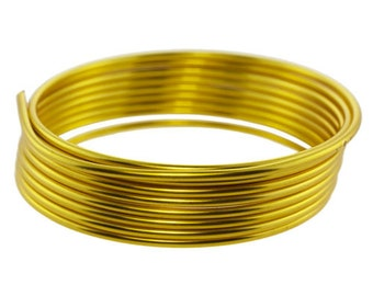 Craft Wire Tarnish Resistant Gold Round Wire 12ga 1.67yd (WR6712G)