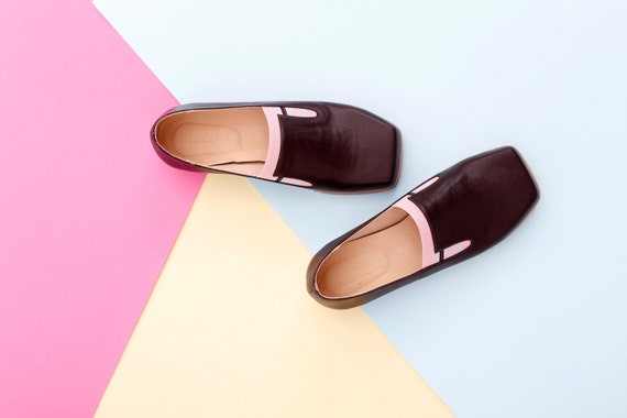 1cf102c3905 flats SALE Brown and brown handmade Women's Ons Slip shoes ADIKILAV loafers  leather pink ON BxqOFwpa ...