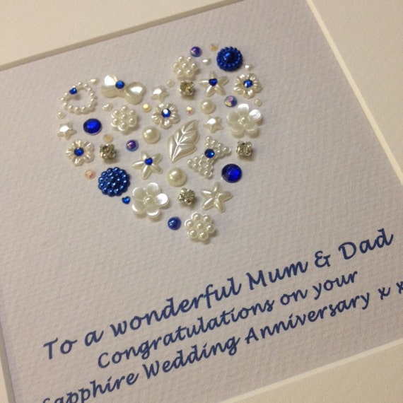 Gifts For 65th Wedding Anniversary: Personalised Sapphire Wedding Anniversary Gift 45th Sapphire