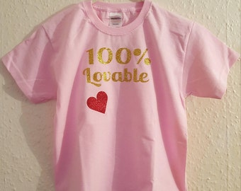 100% lovable kids t-shirt
