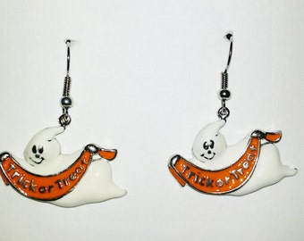 Halloween Trick or Treat Ghost Earrings