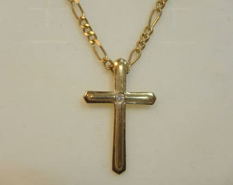 Gold Chain and Cross